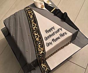 anniversary, happy anniversary, and anniversary cake image