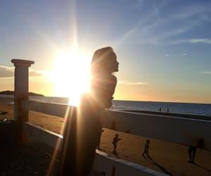 beach, filterfree, and beach sunset image