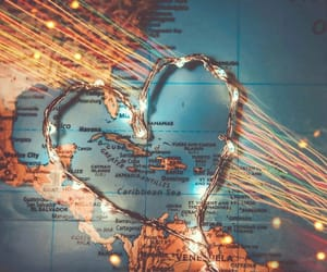 map, travel, and heart image