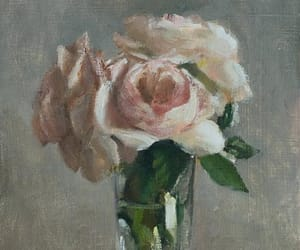 art, painting, and roses image