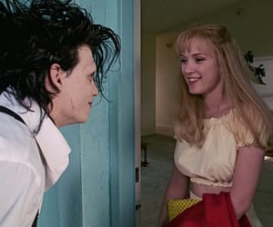 edward scissorhands, johnny depp, and winona ryder image