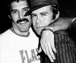 elton john and Freddie Mercury image