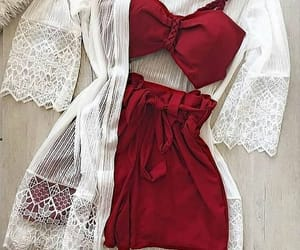 fashion, lace, and red image