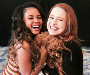 madelaine petsch, vanessa morgan, and dog image