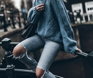 fashion style travel, lovely denim jeans, and jersey blue ocean image