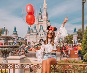 disney, castle, and girl image