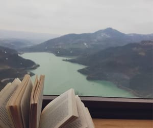 book, landscape, and mountain image