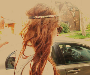 girl, hair, and headband image