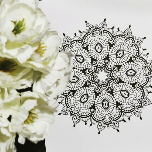 article, tutorial steps, and art zentangle mandala image