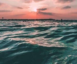 sky, sea, and wallpaper image