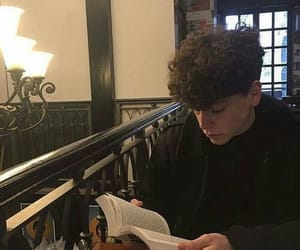 boy, book, and guy image