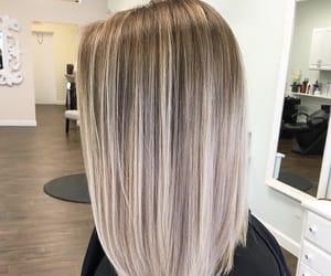 hair, blonde, and haircut image