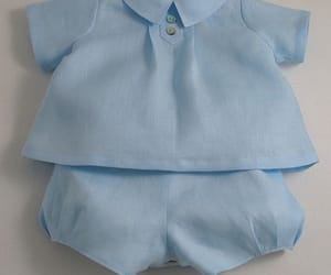 baby girl, ice blue, and baby dresses image