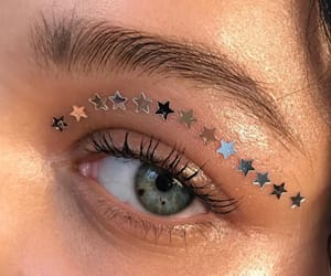 eyes, stars, and beauty image
