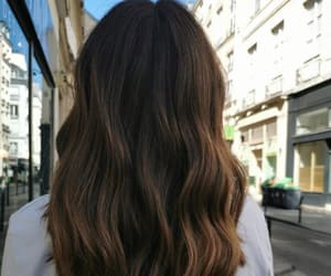 beautiful, brunette, and hair image