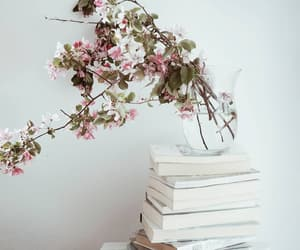 books, flowers, and minimal image