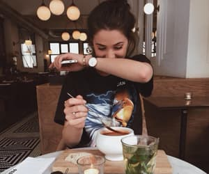girl, food, and tumblr image