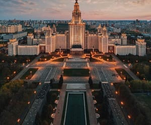 architecture, city, and moscow image