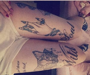 cat tattoo, quote, and Tattoos image