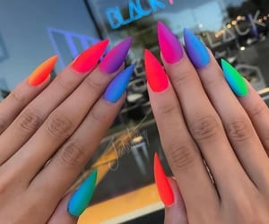 nails, colors, and rainbow image