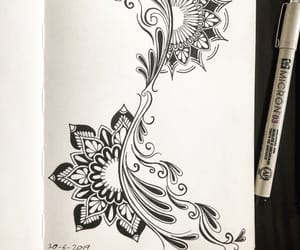 art, ink, and black image