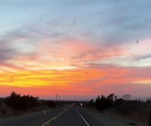 beautiful, car, and sunset image