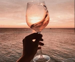 wine, ocean, and beach image