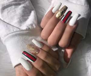 nails, gucci, and nail art image