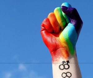 gay, rainbow, and lesbian image