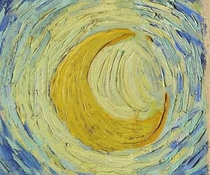 art, moon, and van gogh image