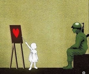 love, war, and soldier image