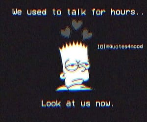 heartbroken, simpsons, and text image