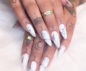 nails, tattoo, and marble image
