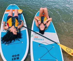summer, summer holiday, and paddle boarding image