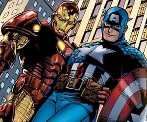 captain america, tony stark, and marvel comics image