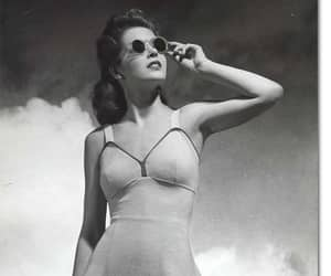 black and white, swimsuit, and vintage image