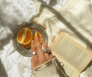 girl, jewelry, and orange image