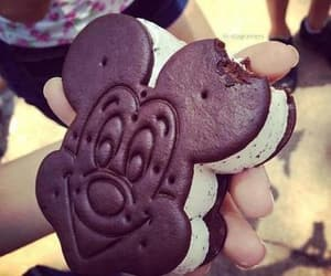 ice cream, disney, and mickey mouse image