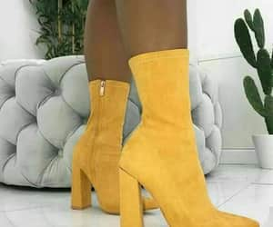 boots, style, and yellow image