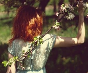 flowers, redhead, and vintage image
