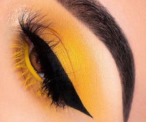 goals, yellow, and makeup image