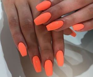 nails, neon, and orange image
