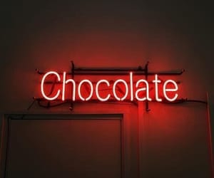 red, chocolate, and neon image