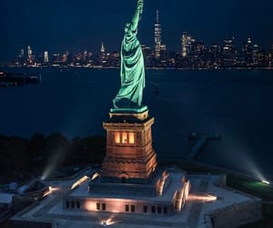 america, citylights, and cityscape image