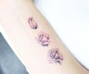 cool, tattoo, and rose image