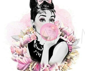 actress, audrey hepburn, and floral image