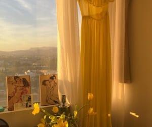 aesthetic, yellow, and theme image