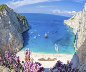 beach, Greece, and natural image