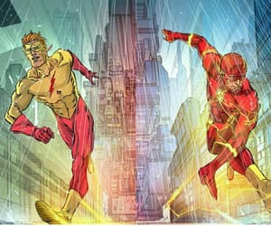 DC, barry allen, and flash image