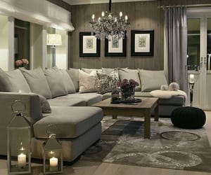 chandelier, decor, and grey image